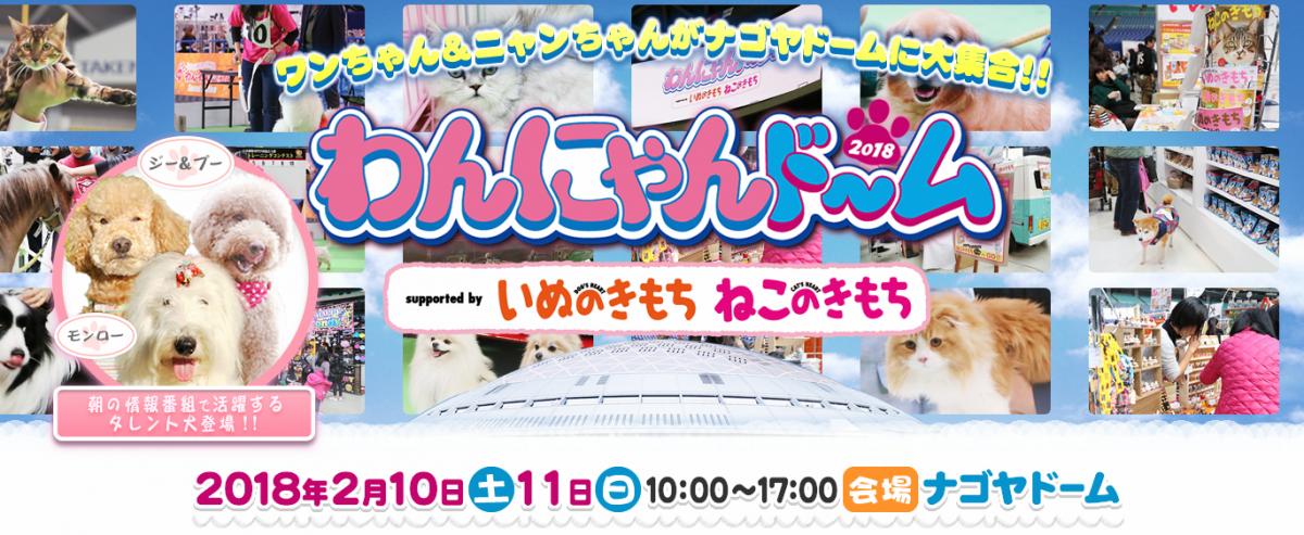 ワンちゃん&ニャンちゃんがナゴヤドームに大集合!わんにゃんドーム2018